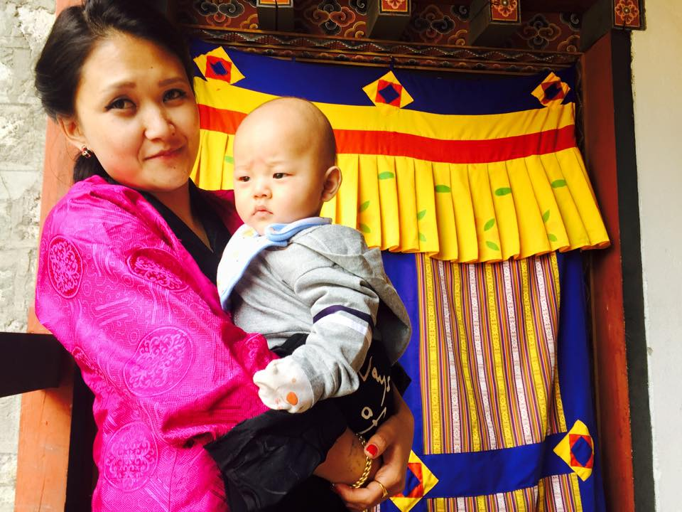 Tenzin, our front office and reservations manager with Baby Yudruk